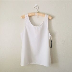 Vintage White Sleeveless Deadstock Blouse